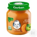 Puree Gerber apple and pumpkin starch and sugar free for 5+ month babies 130g