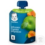 Gerber pumpkin-apricot for children from 6 month puree 90g