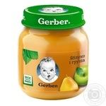 Fruit puree Gerber apple and pear for 5+ months babies 130g