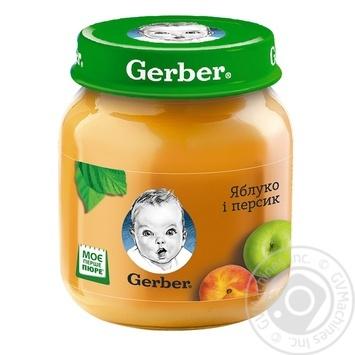 Пюре Гербер яблоко и персик без крахмала и сахара для детей с 5 месяцев 130г - купить, цены на Фуршет - фото 5