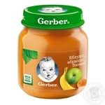 Puree Gerber Apple-Apricot-Banana without sugar without sugar and starch for 6+ month old babies 130g