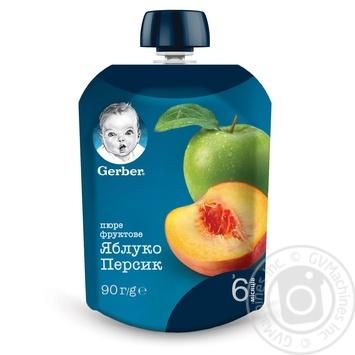 Пюре Gerber яблоко персик 90г