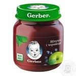 Пюре фруктовое Гербер яблоко и черника для детей с 5 месяцев 130г