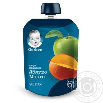 Пюре Gerber Яблоко и манго для детей с 6 месяцев 90г - купить, цены на Восторг - фото 4