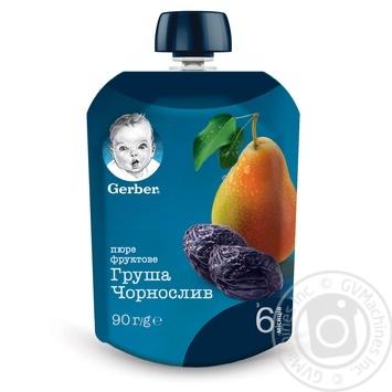 Пюре Gerber Груша и чернослив для детей с 6 месяцев 90г - купить, цены на Ашан - фото 4