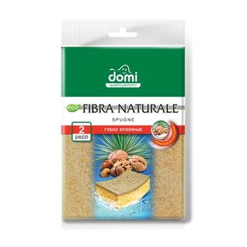 Губки кухонные Domi фибра 2шт - купить, цены на Фуршет - фото 1