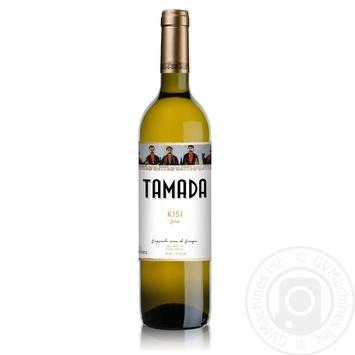 Вино Tamada Kisi белое сухое 12,5% 0,75л - купить, цены на МегаМаркет - фото 1