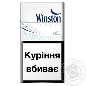 Сигареты Winston Blue Super Slims - купить, цены на Фуршет - фото 1
