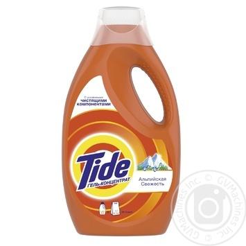 Жидкий стиральный порошок Tide Альпийская Свежесть 1.82л - купить, цены на Фуршет - фото 1