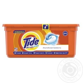 Капсулы для стирки Tide Все-в-1 Альпийская свежесть 30шт