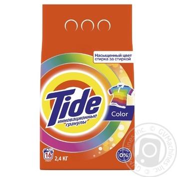 Порошок стиральный Tide Color автомат 2,4кг - купить, цены на Фуршет - фото 1