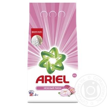 Порошок стиральный Ariel Нежный пион автомат 3кг - купить, цены на Novus - фото 1