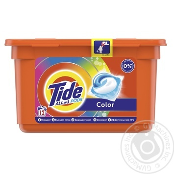 Tide Color Gel Automat Capsules 12pcs 24,8g - buy, prices for Auchan - photo 1