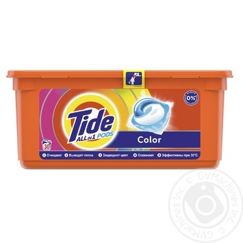 Tide Pods 3in1 Color Washing Capsules 30pcs 24,8g - buy, prices for Tavria V - image 1