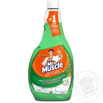 Средство Мистер Мускул для мытья стекол с нашатырным спиртом запаска 500мл