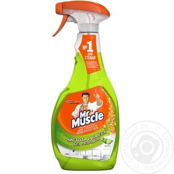 Засіб Містер Мускул Лайм для миття скла зі спиртом 500мл Україна - купити, ціни на Метро - фото 1