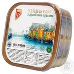 Оселедець Flagman філе-шматочки в олії з духмяними травами 500г