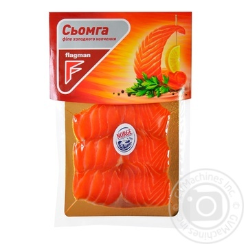 Flagman cold smoked sliced fish salmon cut 100g - buy, prices for Furshet - image 1