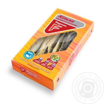 Килька Flagman холодного копчения 250г - купить, цены на Ашан - фото 1