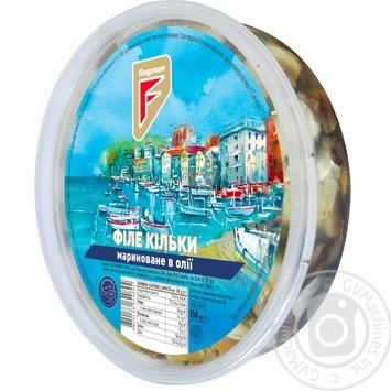 Филе кильки Flagman филе маринованное в масле 150г - купить, цены на МегаМаркет - фото 1