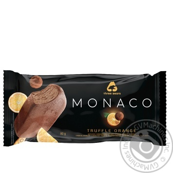 Three Bears Monaco Glazed Truffle-Orange Ice-cream 80g - buy, prices for MegaMarket - image 1