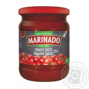 Томатна паста Маринадо 25% 460мл - купити, ціни на МегаМаркет - фото 1
