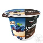 Десерт Даниссимо Черничный чизкейк двухслойный 6% 230г