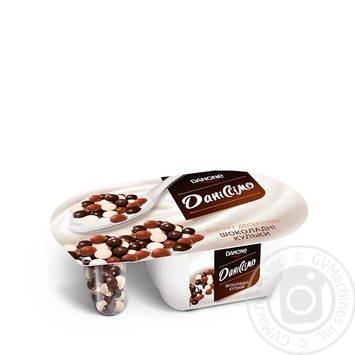 Йогурт Даніссімо Фантазія вершковий 8.3% 91г кульки в шоколаді 9г - купити, ціни на Novus - фото 1