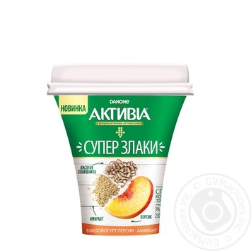 Бифидойогурт Активиа Персик-амарант 3% 230г - купить, цены на Восторг - фото 1