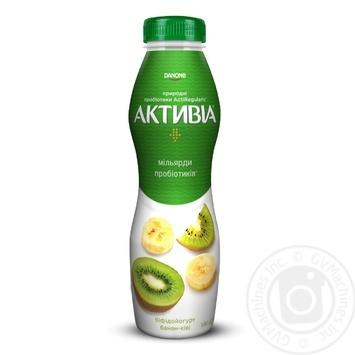 Бифидойогурт Активиа Банан-киви питьевой 1,5% 580г