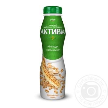 Бифидойогурт Активиа Злаки питьевой 1,5% 290г - купить, цены на МегаМаркет - фото 1