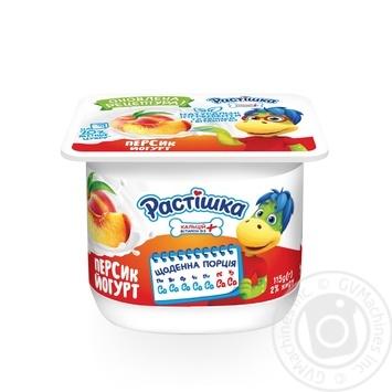 Йогурт Растишка Персик 2% 115г - купить, цены на Ашан - фото 1