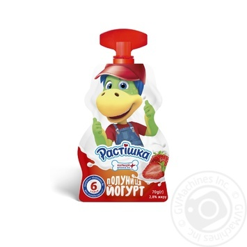 Йогурт Растишка клубника 2,8% 70г
