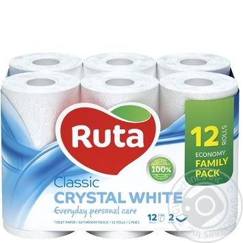 Бумага туалетная Ruta Classic белая 2-слойная 12шт - купить, цены на Novus - фото 1