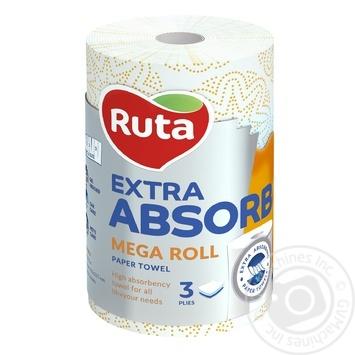 Полотенца бумажные Ruta Selecta Mega roll шт - купить, цены на Novus - фото 1