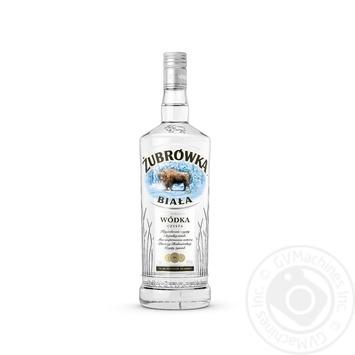 Водка Zubrowka Бяла 40% 1л - купить, цены на Novus - фото 1