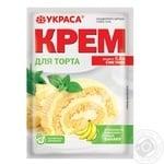 Крем для торта Украса зі смаком банану 70г