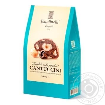Печенье Bandinelli Кантучини с шоколадом и фундуком 100г - купить, цены на Фуршет - фото 1