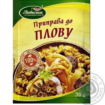 Приправа Любисток к плову 30г - купить, цены на Novus - фото 1
