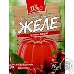 Jelly Deko cherry jelly for desserts 90g Ukraine