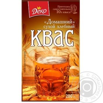 Квас Деко Домашний сухой хлебный 200г - купить, цены на Ашан - фото 1