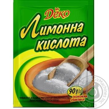 Лимонна кислота Деко 90г - купити, ціни на Ашан - фото 1