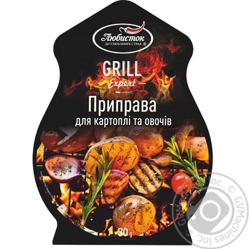 Spices Lyubystok Grill for vegetables 30g packaged - buy, prices for Novus - image 1