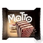 Вафли Mymotto тирамису 34г - купить, цены на Метро - фото 1