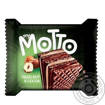 Вафли Mymotto орех и какао 34г - купить, цены на Восторг - фото 1