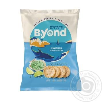 Чіпси B.Yond рисові морська сіль і лайм 70г - купити, ціни на Метро - фото 1