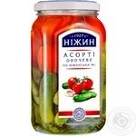 Vegetables tomato Nizhyn vegetable canned 920g glass jar