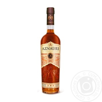 Aznauri 3* Cognac 40% 0,5l - buy, prices for Novus - image 1