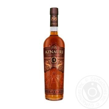 Коньяк Украины Aznauri 4 звезды 40% 0,5л - купить, цены на Novus - фото 1