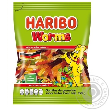 Haribo Worms Jelly Sweets 80g - buy, prices for EKO Market - photo 1